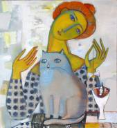Woman with a cat  » Click to zoom ->