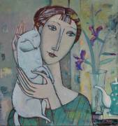 With white cat(SOLD)  » Click to zoom ->