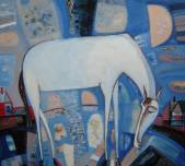 White horse.(sold)  » Click to zoom ->