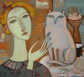 Woman and cat  » Click to zoom ->