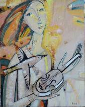 With a Violin (SOLD)  » Click to zoom ->