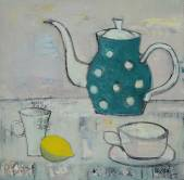 Teapot with polka dots  » Click to zoom ->