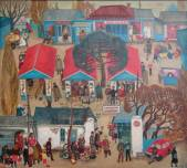Market in Hot Key.(Sold. Ulyanovsk State Museum Fine Arts)  » Click to zoom ->