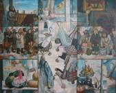 From a life of a New City.(Sold. Ulyanovsk State Museum Fine Arts)  » Click to zoom ->
